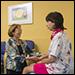 Dr. Tina Iyama and patient