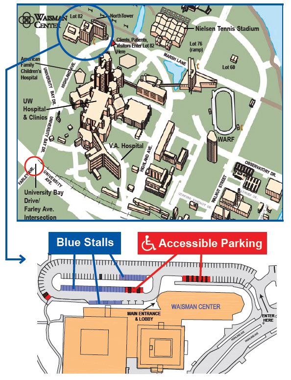 Waisman Center Driving Directions And Parking Ucedd Uw Madison