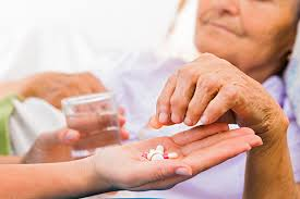 Image of a person receiving medication.